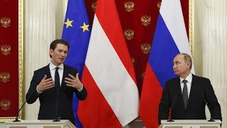 Putin & Austrian Chancellor Kurz address media (Streamed live) thumbnail