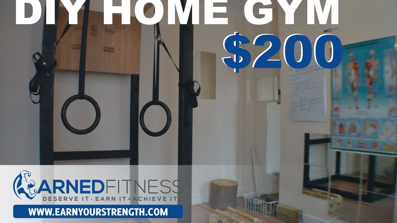 Diy home gym  EARNYOURSTRENGTH - DIY HOME CALISTHENICS GYM - YouTube