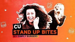 Κατερίνα Βρανά & Χρύσα Κατσαρίνη στο CU STAND UP BITES by Simply Burgers
