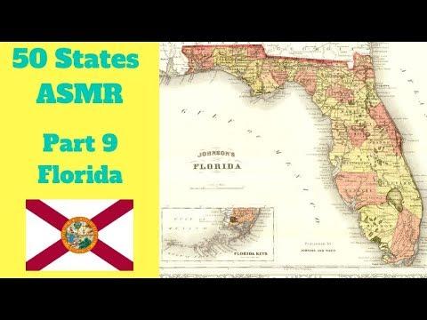 Florida Geography Map.Asmr State Map Geography Part 9 Florida
