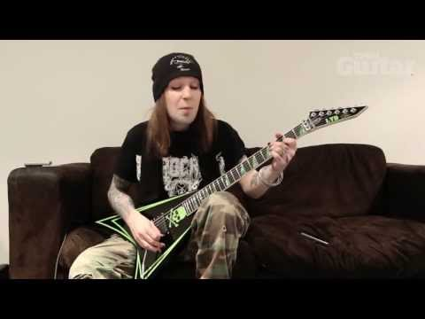 Alexi Laiho plays riffs from Children Of Bodom's new album 'Halo Of Blood'