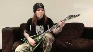 Alexi Laiho plays riffs from Children Of Bodom
