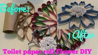 TOILET PAPER ROLL FLOWER DIY! Simple and Pretty flower