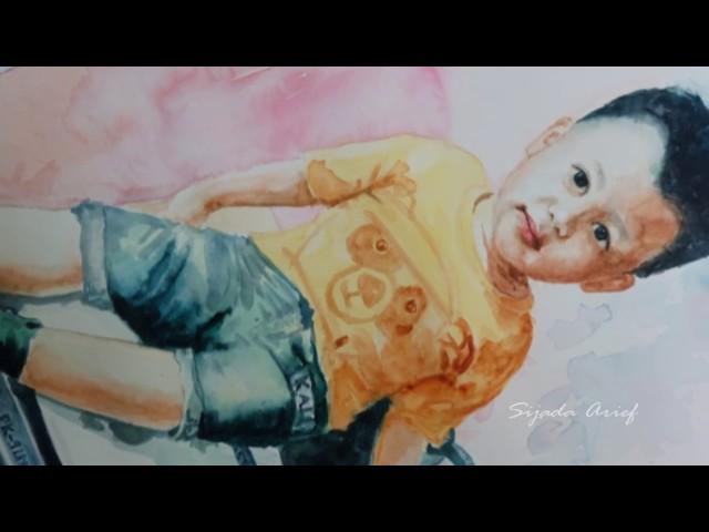 Cara melukis anak kecil dengan media cat air #2