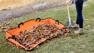 EZ Lawn and Garden | Leaf Hauler Reinforced Clean-Up Tarp