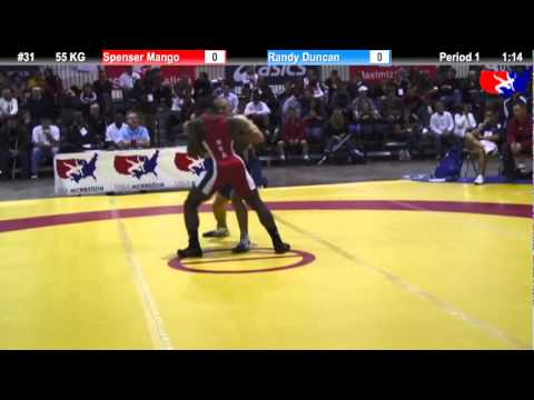 2011 U.S. Open FRI GR 55 KG: Spenser Mango vs. Randy Duncan Champ. Round 1