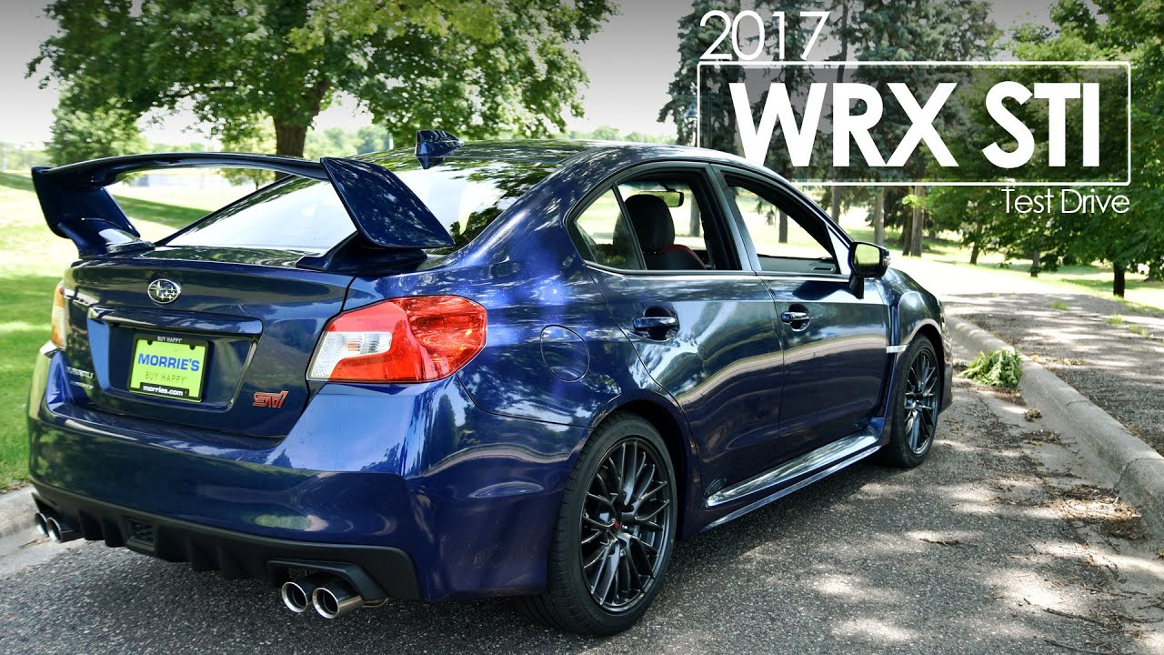 2017 Subaru Wrx Sti Driving Review Test Drive Road