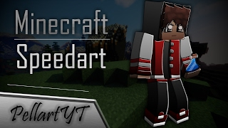 Minecraft SpeedArt: PellartYT (Banner)
