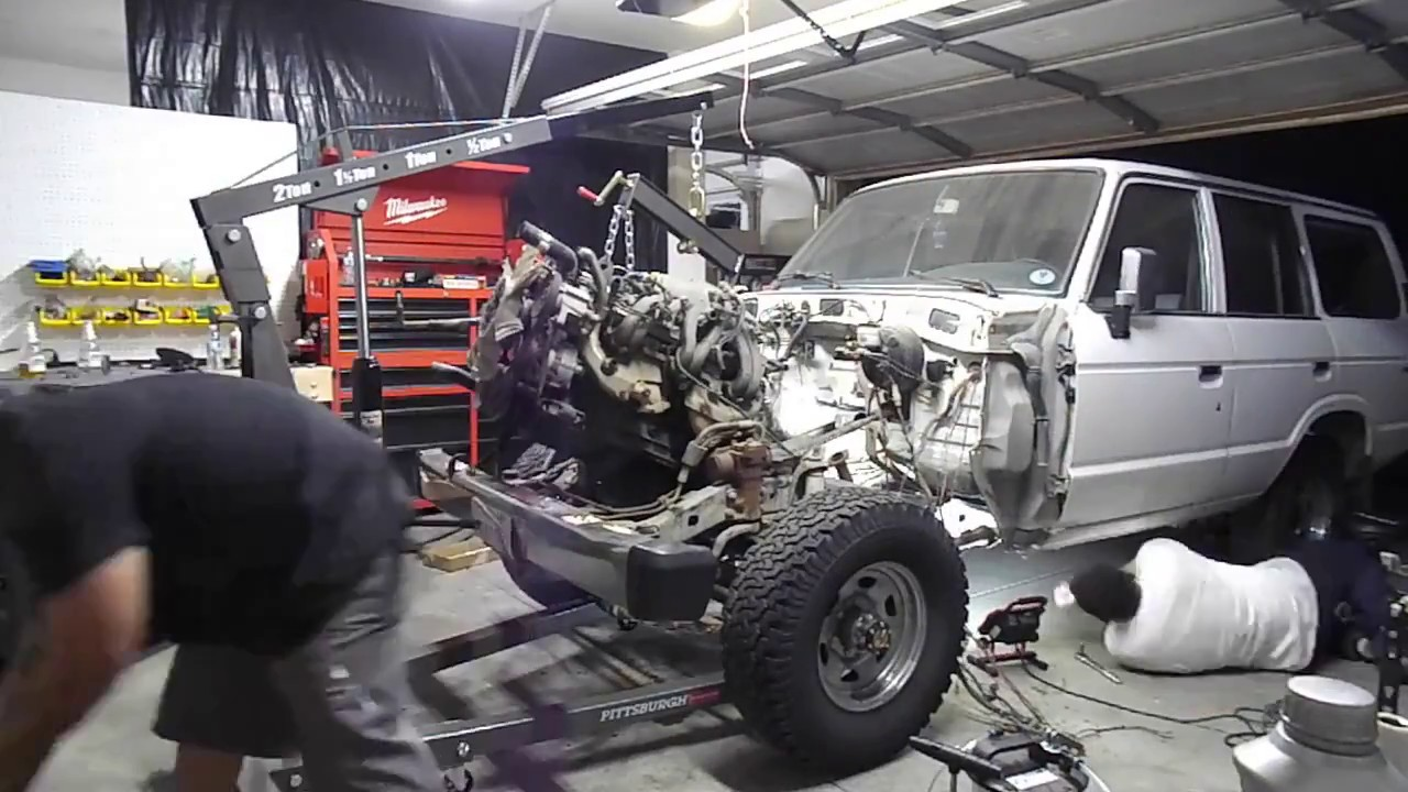 FJ62 LS Swap and Restoration PT  1 3FE and A440F Removal