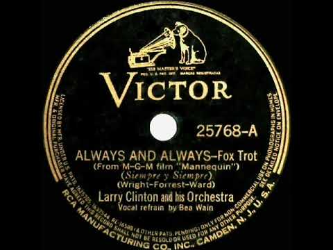 1938 OSCAR-NOMINATED SONG: Always And Always - Larry Clinton (Bea Wain, vocal)