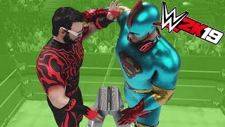 FGTEEV vs SUPER GAMING FAMILY | WWE 2K19 - TITLE MATCH