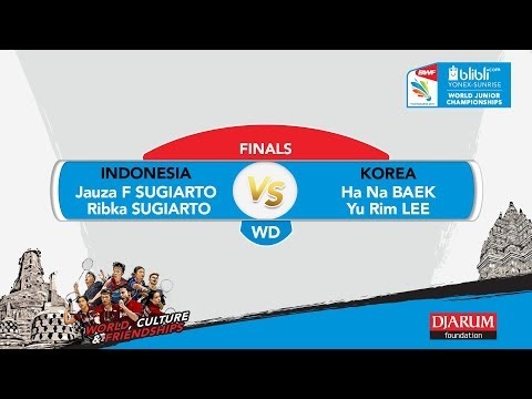 WORLD JUNIOR CHAMPIONSHIPS 2017 | WD FINALS | SUGIARTO/SUGIARTO (INA) vs BAEK/LEE (KOR)