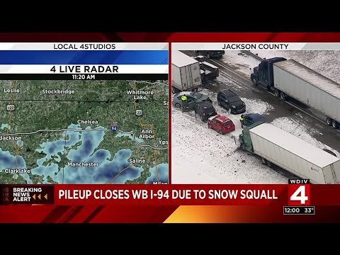 Westbound I-94 closed at Mount Hope Road