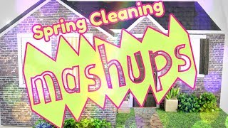 Mash Ups:  Spring Cleaning Crafts - Doll Caddy   Vacuum   Washer & Dryer   Iron & Ironing Board