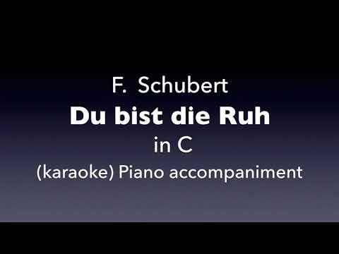 Du bist die Ruh  F. Schubert  in C   karaoke
