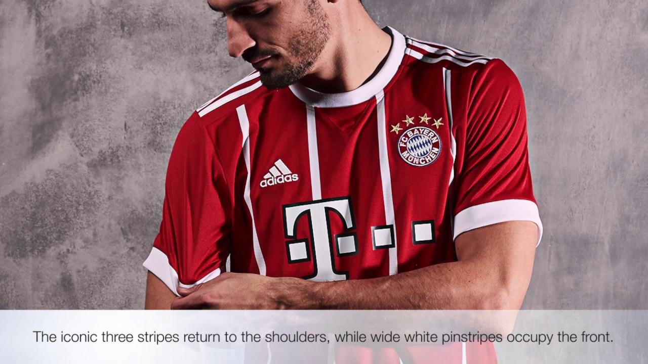 premium selection 7f783 04e86 The New Adidas 2017/18 Bayern Munich Home Kit
