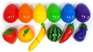 캡슐 에그 장난감으로 재미있는 영어 색깔놀이와 과일 채소 영어 이름 맞추기 놀이
