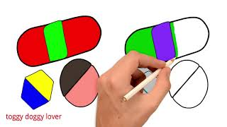learn drawing and coloring by draw block | how to learn draw and color for kid|