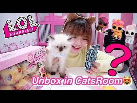 Yeay! UNBOX LOL SURPRISE PETS in MY CATSROOM - LOL PETS FAKE BUT HIGHQUALITY + SAND INDONESIA