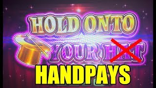 BIG JACKPOT HANDPAYS!  LOCK IT LINK HOLD ONTO YOUR HAT SLOT