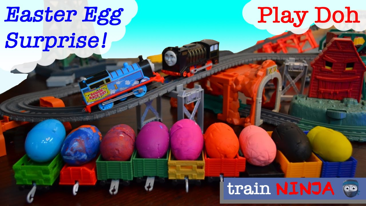 Play Doh Eggs | Thomas & Friends Trackmaster | Easter Egg Surprise | Mini Trains