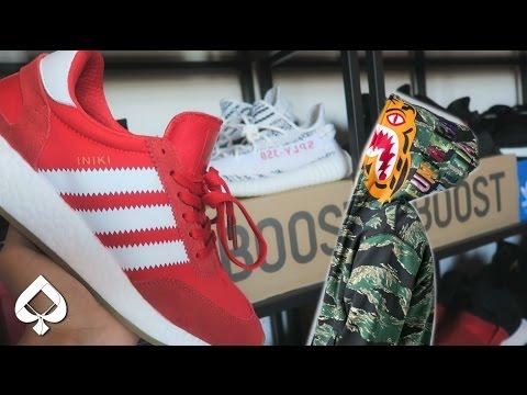 Adidas INIKI VLOG | Buying a BAPE SHARK HOODIE from FACEBOOK!