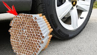 Crushing Crunchy & Soft Things by Car! - EXPERIMENT: CAR VS 1000 CIGARETTES