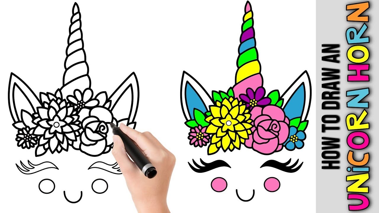 How To Draw An Cute Unicorn Horn Kawaii ★ Cute Easy ...