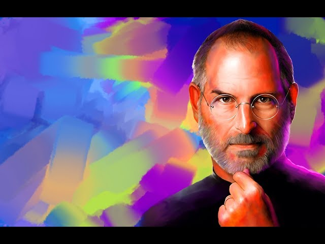Steve jobs portrait/ color full digital painting in Photoshop tutorial to simple effect star arts