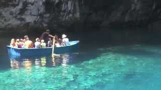 Melissani cave greece | Kefalonia greece | Greece video Tour(Melissani Cave (Greek: Μελισσάνη) or Melissani Lake, also Melisani is a cave located on the island of Kefalonia, northwest of Sami, about 5 km SE of Agia ..., 2015-06-10T02:28:21.000Z)