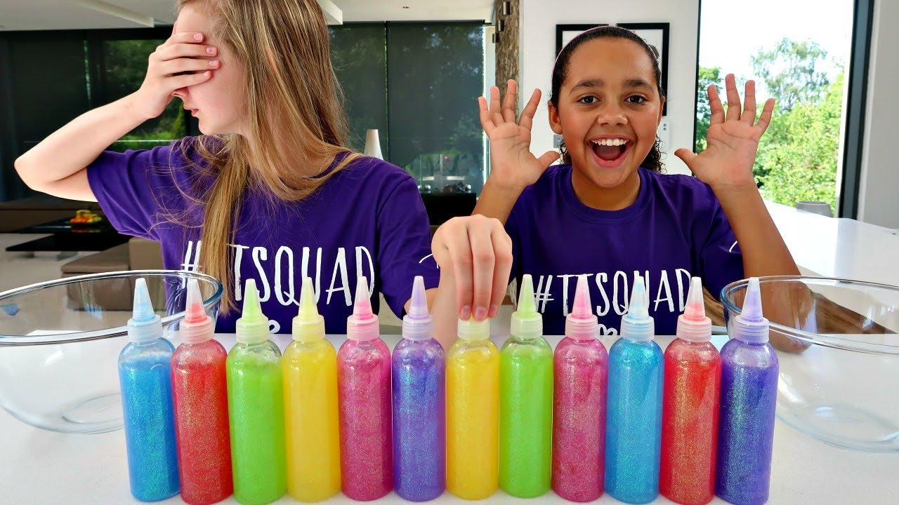 3 Colors Of Glue Slime Challenge New Colors Edition