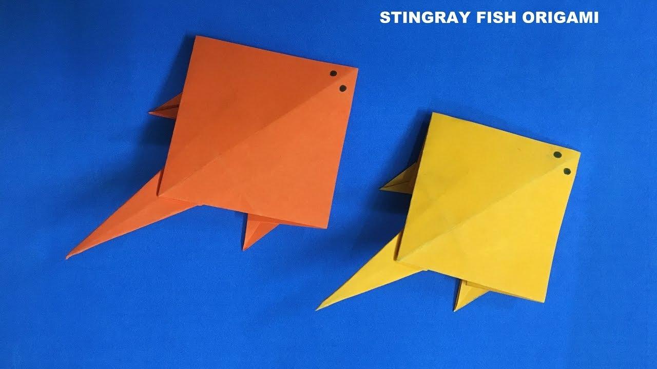 Stingray Fish Origami Tutorial - Easy Fun Crafts