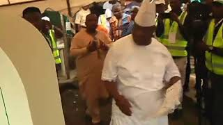 Ademola Adeleke votes in Osun governorship election
