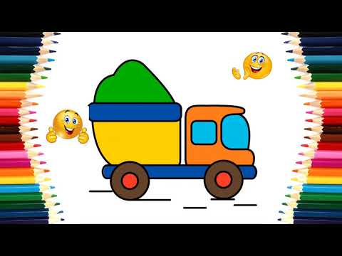 Colors for Children to Learn with Color Bus, Truck and Fire Truck | Learn Colors for Kids