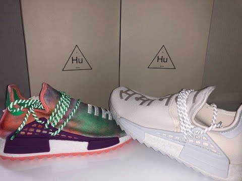 05d340571 Adidas NMD HU Holi Chalk Coral   Cream White Review 4K - YouTube