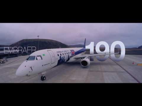 Embraer E190 Domina os Ventos da ilha de Santa Helena