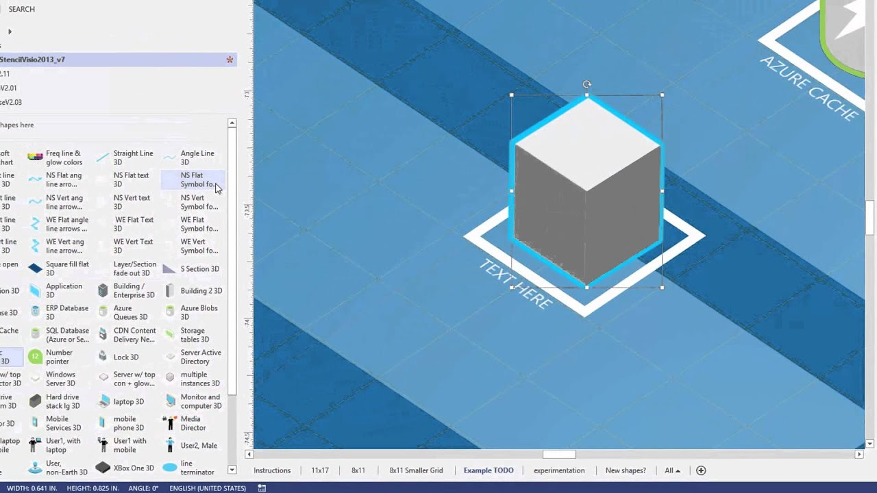 Microsoft Architecture Blueprint 3d Visio Template v6 BETA -Superceded