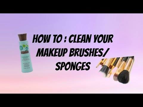 How to: Clean your makeup brushes/sponges
