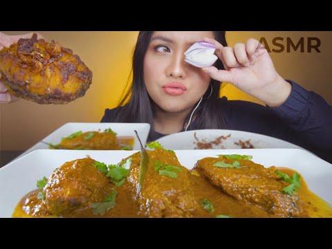 asmr-bengali-mustard-fish-curry-fish-fry-rice-mukbang-(whispering)-crunchy-sticky-eating-sounds