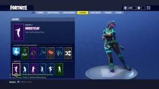 Fortnite new Twitch prime freestyle emote preview lobby
