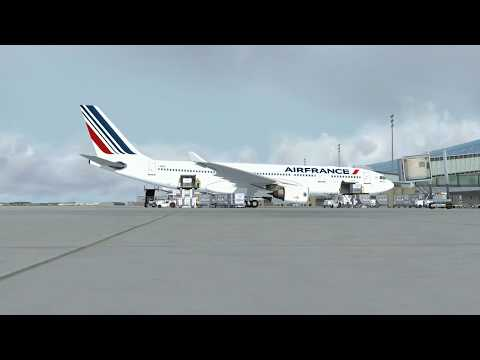 flight from Paris to Ouagadougou via Bamako(commented)(P3D)