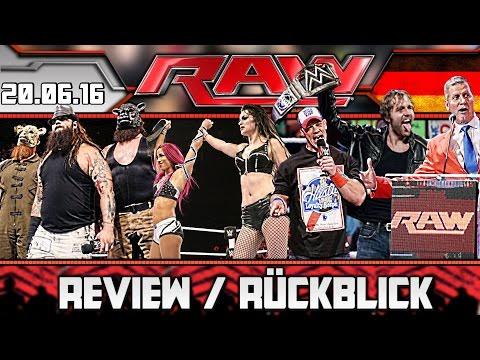 WWE RAW Review - 20.06.16 - SO VERRÜCKT IST DER NEUE CHAMPION! (Deutsch/German)