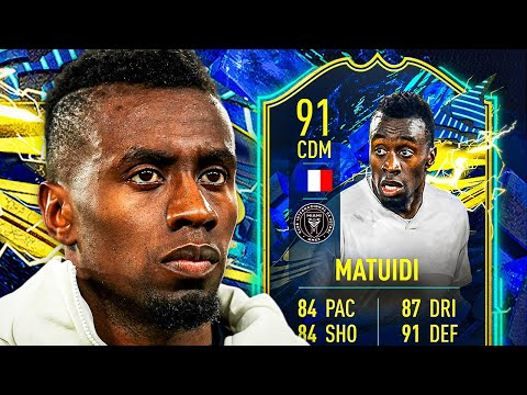 THE LIGUE 1 CONTENT WE NEEDED! 😅 91 TOTS MATUIDI PLAYER REVIEW! - FIFA 21 Ultimate Team