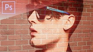 Photoshop CS6 Tutorial - Transform a Photo into a Brick Wall Portrait