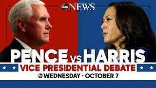 2020 Vice Presidential Debate: WATCH LIVE VP Mike Pence, Kamala Harris go head-to-head | ABC News