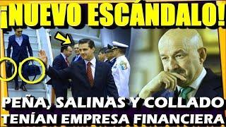 🔴 NUEVO ESCANDALO ¡ PEÑA SALINAS Y COLLADO ERAN SOCIOS DE EMPRESA FINANCIERA ! ESTADISTICA POLITICA