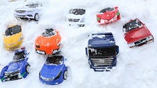 헬로 카봇 눈 놀이 CARBOT SNOW PLAY