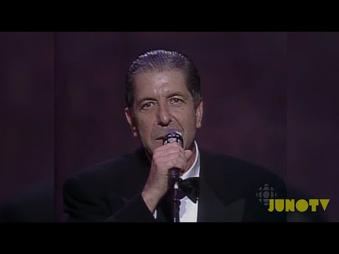 Leonard Cohen Inducted Into The Canadian Music Hall of Fame | JUNO TV's Vintage Vids