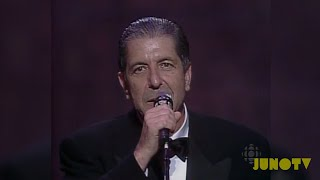 Leonard Cohen Inducted Into The Canadian Music Hall of Fame | JUNO TV