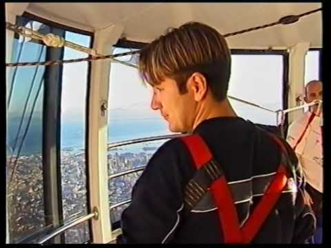 89m Bungee jump from Table Mountain cable car in Cape Town, South Africa, 2000